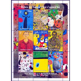 Selos Guiné 1998 Quadros De Joan Miró Espanha Arte Moderna