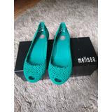 Melissa Coral Verde Floripa N 33/34 (serve 35) Intacta