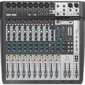 Mesa De Som 12 Canais Signature 12mkt Preto/prata Soundcraft