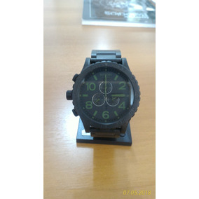 baf92d15b79 Relógio Nixon 51-30 Matte Black Chrono Novo Original