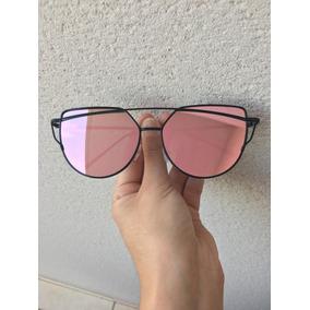68063a1c5b0f8 Óculos Escuros Feminino De Sol Espelhado Uv400 Olho De Gato