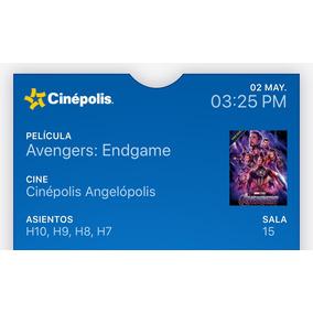 Avengers: Endgame Puebla Imax 3d Esp 4 Boletos, Aprovecha!