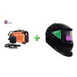 Inversora De Solda 220v Mini Mma225 E Mascara De Solda Autom
