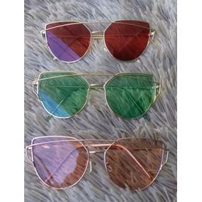 Oculos Feminino Gatinho Kit 3 Transparente Colorido Oferta 516d127222