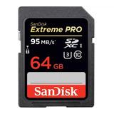 Tarjeta De Memoria Sd Sandisk Extreme Pro 64gb 4k U3