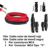 Cable Solar 4mm2. Con Mc4 - Mc4 Y