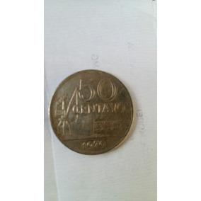 Moeda Antiga De 50 Centavos De 1970