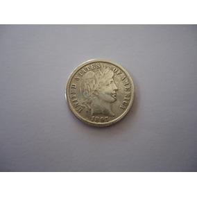 Moeda Prata 1 Um One Dime Dolar 1897 Usa Americano Rara Data