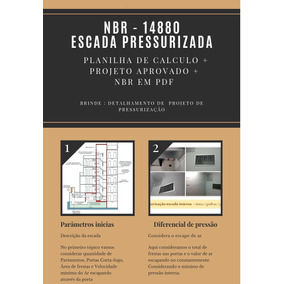 Escada Pressurizada, Planilha De Calculo - Nbr 14880