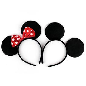 12 Diadema Mickey Raton Disfraz Orejas Mouse Minnie Fiesta