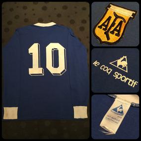 Camiseta Argentina Diego Maradona Le Coq 10 Original Unica ... 4bfca6b778fb0