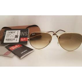 Ray Ban Aviador Pequeno Marrom De Sol - Óculos no Mercado Livre Brasil fd4aafbdeb