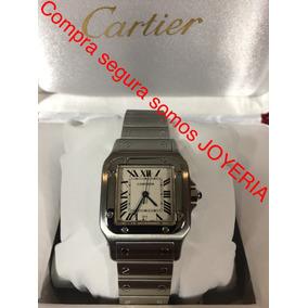 Cartier Santos Hombre Acero Con Caja Y Manual Impecable