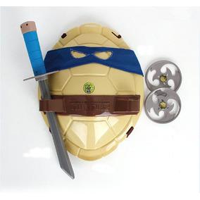 Tartarugas Ninja Com Alças Ajustaveis Espadas,lançadores