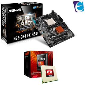 Kit Placa Mãe Asrock N68-gs4 Fx R2.0 Amd Fx 6300 3.5ghz Am3+