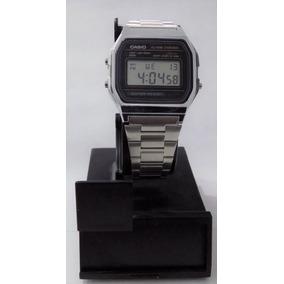 c73f4cee298b Reloj De Pulso Digital Casio A158w Retro Plateado Unisex