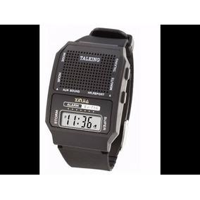 6518c033479 Relógio Talking Fala Horas Em Português Para Cegos