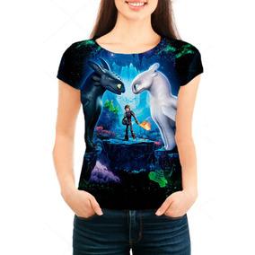 Camiseta Babylook Feminina Como Treinar Seu Dragão 3