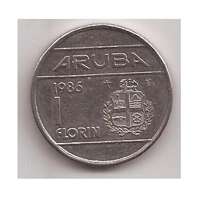 Aruba Moneda De 1 Florin Año 1986