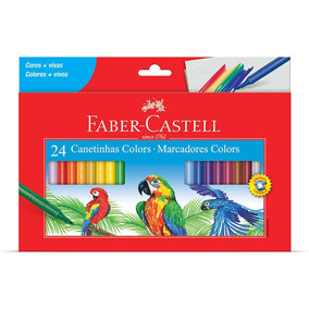 Canetinha Faber Castell 24 Cores Colors