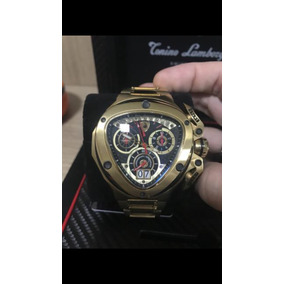 17962ada44f Relogio Lamborghini Dourado - Relógio Masculino no Mercado Livre Brasil