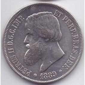 Moeda 2000 Réis 1889 Prata Do Império Lote8