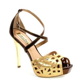 ccf49d369 Sapato Miucha Dourado Sandalias Rio De Janeiro Petropolis - Sapatos ...