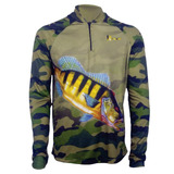 Camisa De Pesca Fps Uv50 Kaapuã + Tube De Brinde