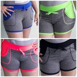 Shorts Fitness Feminino Bermuda Shortinho Fitness