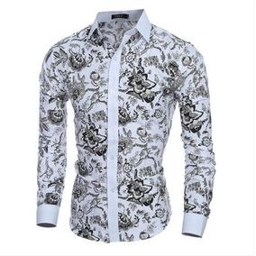Camisa Floral Masculina - Camisas no Mercado Livre Brasil 9bd082780be7f