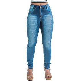 c54275413 Calca Jeans Feminina Cos Alto Levanta Bumbum Pronta Entrega - Calças ...