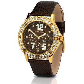 e08084807dee2 Pequeno Relogio Feminino Dourado Mostrador Preto - Relógios no ...