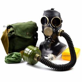 Mascara De Gás Russa Soviética Militar Gp-7 Com Mangueira