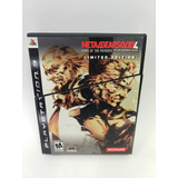 Metal Gear Solid 4 Guns Of The Patriots Ps3 Limited Edition!
