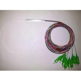 Splitter Fibra Óptica Sm Plc 1:8 Com Conectores Sc-p