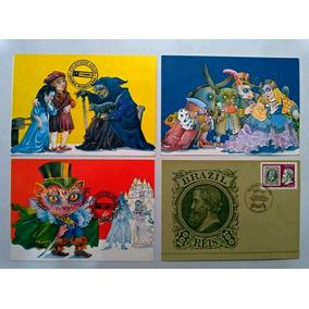 Lote 4 Cartões Postais Comemorativos Ect