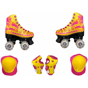 Patines Roller Chicago Luna Con Set Proteccion Envio Gratis