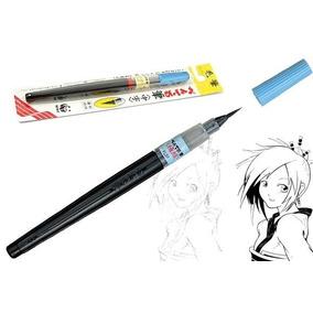 Caneta Pincel Fude Pen Pentel Ponta Fina Made In Japan Xfl2f