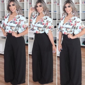 ae5c6da365 Calca Envelope Pantalona - Calças Feminino no Mercado Livre Brasil