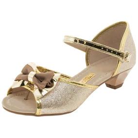73bd1e4b3 Sandalia Molekinha Infantil Dourada - Sapatos no Mercado Livre Brasil