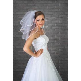 2803834022 Velo Blanco Sobrepuesto Para Vestido Corto - Vestidos en Mercado ...