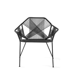 Silla Zen Vinilo Negro Con Estructura Metálica Negra