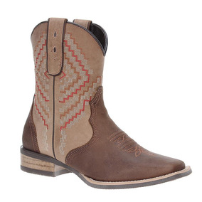 Bota Texana Feminina Bico Fino West Country Firenze Caf - Sapatos no ... 8c799df1d70