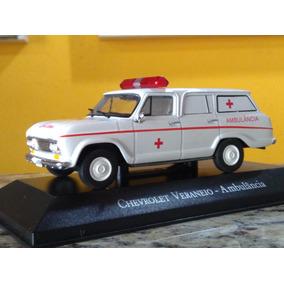 Veraneio Ambulância Miniatura Coleção 1:43 Carrinho Acrilico
