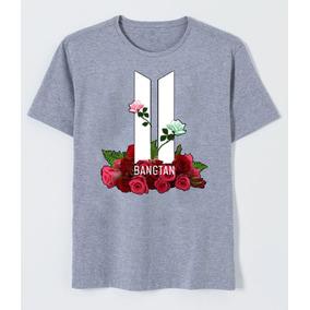 Camisa Camiseta Infantil Feminino Bts Logo Banda 2018 4e7cbe439d1ec