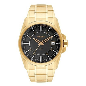 7208ae83834 Relogio Dourado Visor Preto Orient - Relógios De Pulso no Mercado ...