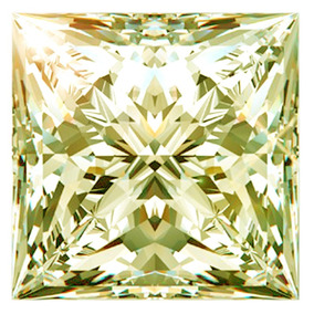 1.95ct Vvs1/7.02mm Blanco Amarillo Princesa Corte Real Suelt
