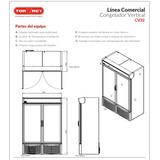 Congelador Vertical Torrey 2 Puerta De Vidrio Cv-32