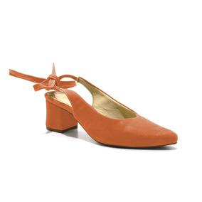 Sapato Social Scarpins Chanel Salto Baixo Amarrar