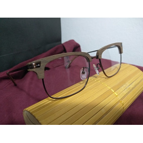 c01ca38cfebde Armação Óculos Em Madeira Com Lente Transparente Sem Grau. R  150